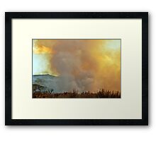 The Fire Rises Framed Print