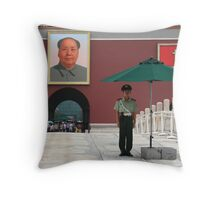 Forbidden Palace Guard, Beijing Throw Pillow
