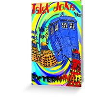 Dalek Joke T-shirt Design Greeting Card
