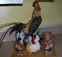 roosters by gabbielizzie