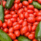 Hot Peppers and Cherry Tomatoes by Bo Insogna