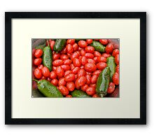 Hot Peppers and Cherry Tomatoes Framed Print