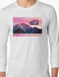 Pink Mountains Long Sleeve T-Shirt