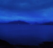 Night Sail on the Firth of Clyde by artyfifi