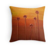 Flame Flowers Throw Pillow