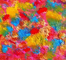 Blooming Meadow. Vibrant Colours Pattern by SpieklyArt