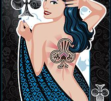 queen of clubs by Jeff Chapman