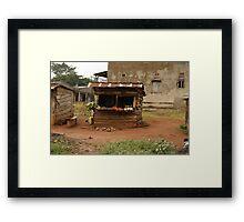 The Veggie Stand Framed Print