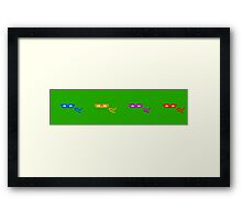 Retro Teenage Mutant Ninja Turtles Framed Print