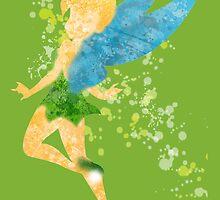 Paint Splatter Princess - Tinkerbell by Nani &  Ceci