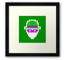 Retro Riddler Framed Print