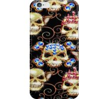 Gothic Bling Jewel Skulls Pattern iPhone Case/Skin