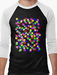 Squares Men's Baseball ¾ T-Shirt