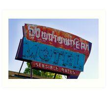 Motel Downtowner - Flagstaff - AZ Art Print