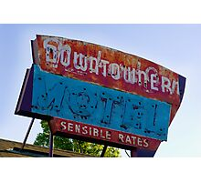 Motel Downtowner - Flagstaff - AZ Photographic Print