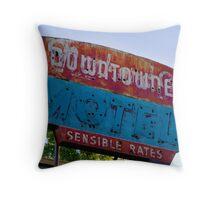 Motel Downtowner - Flagstaff - AZ Throw Pillow