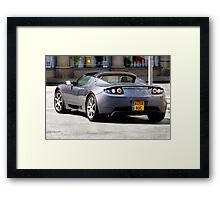 Topless Tesla Framed Print