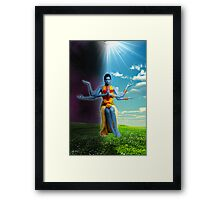 Divine Being II - The Light & The Dark Framed Print