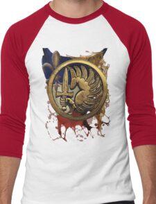 French Foreign Legion Para w Background Men's Baseball ¾ T-Shirt