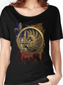 French Foreign Legion Para w Background Women's Relaxed Fit T-Shirt