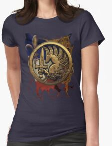 French Foreign Legion Para w Background Womens Fitted T-Shirt