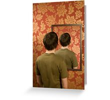 Magritte Mirror Greeting Card