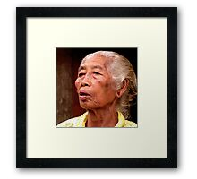 Lady,  Ubud Market, Bali Framed Print