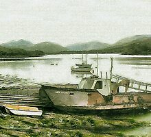 Highland Boats by Catherine Hamilton-Veal  ©
