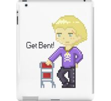 Get Bent pixel iPad Case/Skin