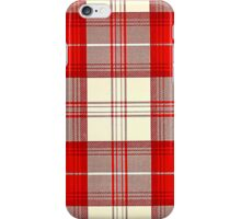 red and white tartan iPhone Case/Skin