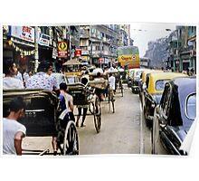 Peak hour, Calcutta 1980 Poster