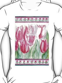 SOFT SHADES OF PINK - ADORABLE PINK TULIPS T-Shirt