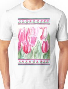 SOFT SHADES OF PINK - ADORABLE PINK TULIPS Unisex T-Shirt