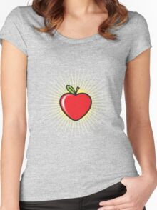 Apple Heart Women's Fitted Scoop T-Shirt