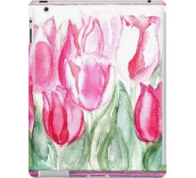 SOFT SHADES OF PINK - ADORABLE PINK TULIPS iPad Case/Skin