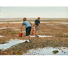 Hunting for Crabs Photographic Print