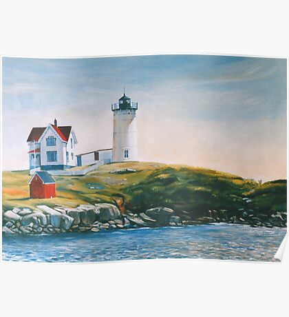 New England Lighthouse Poster