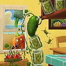 The Escape of the pickles! by Mike Cressy