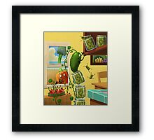 The Escape of the pickles! Framed Print