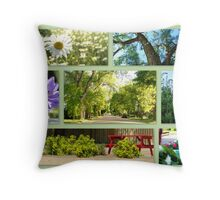 Maple Creek in Bloom Throw Pillow