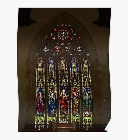 Sacred Heart Cathedral, Bendigo - Leadlight Window Poster