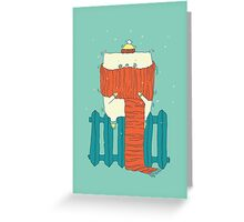 frozen cat, winter cat Greeting Card