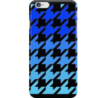 Blues houndstooth pattern iPhone Case/Skin