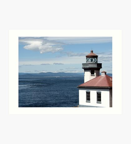 Lime Kiln Point Lighthouse Art Print