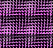 Purples houndstooth pattern by artisticattitud