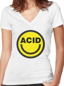Acid House Women's Fitted V-Neck T-Shirt