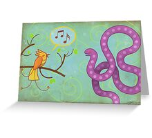 Sing me a song! Greeting Card