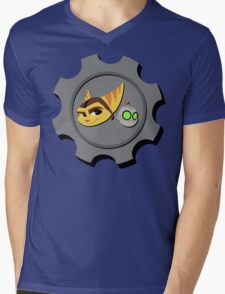 Ratchet and Clank - Gears of Frienship Mens V-Neck T-Shirt