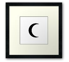 "Moon (Matches with ""Sun"") Framed Print"