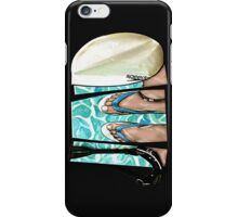 The Swimmer - White iPhone Case/Skin